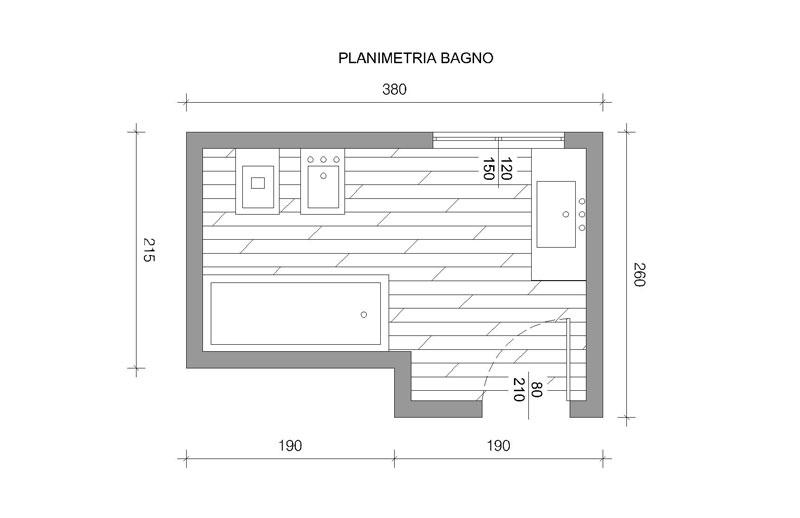 tuttavia i gusti personali specificati dal cliente planmetria bagno progettazione