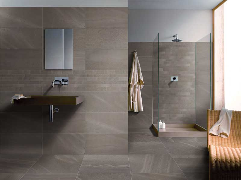 Pavimenti design dai al tuo pavimento della cucina multiple personalit con mosaico di - Pavimento e rivestimento bagno uguale ...